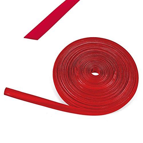 wamovo 10 Meter Kederband 12 mm rot Kunststoff Leistenfüller für Wohnwagen und Wohnmobil