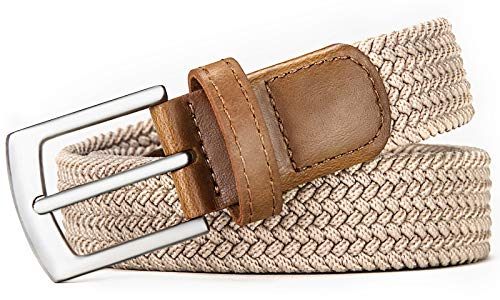 Belt For Women,Bulliant Womens Woven Stretch Belts Elastic Braided 1 1/8, Multicolors.