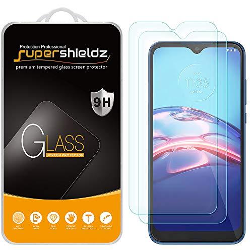 (2 Pack) Supershieldz Designed for Motorola Moto E (2020) Tempered Glass Screen Protector, Anti Scratch, Bubble Free