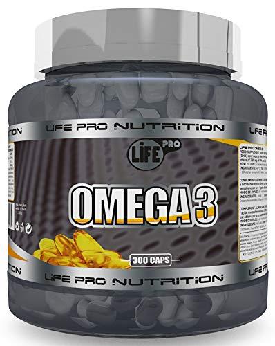 Life Pro Omega 3 300 perlas Complemento Alimenticio con Omega 3 y Vitamina E