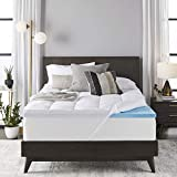 Sleep Innovations 4-inch Dual Layer Gel Memory Foam Mattress Topper...