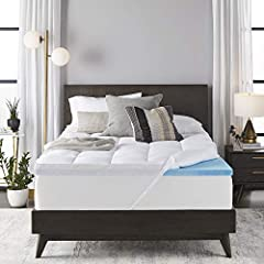 QUEEN MATTRESS TOPPER: This 4-inch mattress topper features a dual layer of quilted fiber fill and gel memory foam. Personalized, luxurious comfort for all night support. TWICE THE COMFORT: For the ultimate upgrade, get twice as comfortable. Enjoy th...