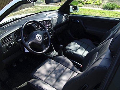 seatcovers by k-maniac Sitzbezüge Golf 4 Cabrio Vordersitze Rückbank Sitzbezug Ledersitze schwarz