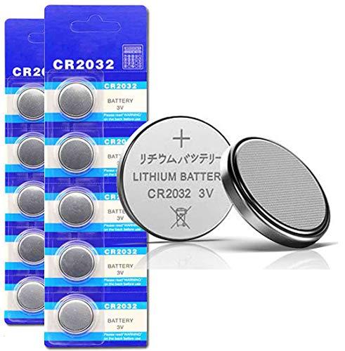DoDoLightness Battery Lithium CR2032 Button Cell Batteries 3V 100PCS