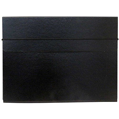 JAM Paper Strong Thin Portfolio Carrying Case with Elastic Band Closure - 9 1/4' x 1/2' x 12 1/2' - Black - Sold Individually