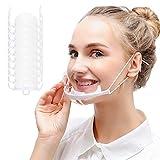 10 Stück Erhöhter Stil Gesichtsvisier   Schutzvisier in Transparent   Universal Gesichtsschutz   Visier zum Schutz vor Flüssigkeiten   Face Shield für Mund & Nase
