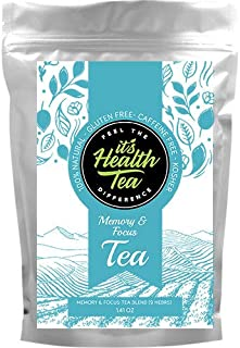 Sponsored Ad - Memory & Focus Tea Blend: Gotu Kola, Eleuthero Root, Ginkgo, Ho Shou Wu, Peppermint, Damiana, Calendula, Le...
