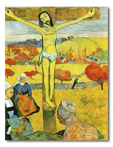 Cuadro Decoratt: El Cristo amarillo - Paul Gaguin 62x80cm. Cuadro de impresión directa.