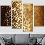 Glitter CloseUps Wall Art for Home Office Abstract Neon Canvas Wall Art for Living Room Bedroom - 48'x35.75' inches