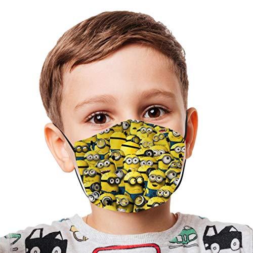 Halstücher für Kinder, wiederverwendbar, winddicht, Anti-Staub, Mundschutz, für Mädchen und Jungen, Minions-Flagge, UK-Flagge Gr. Einheitsgröße, Weiß-5
