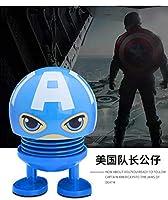 TopOne マーベルアベンジャーズカーオーナメントアクションフィギュアスーパーヒーローモデルシェイキングヘッド人形車の装飾 キャプテン・アメリカ