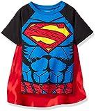 DC Comics Camiseta de Manga Corta de Supermán con Capa - Disfraz Friki Divertido para Niños, Azul 4 Años