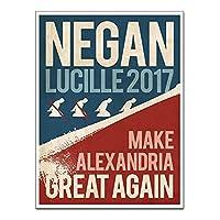 Qqwer ネガンポスターに投票する装飾的な絵のポスターとプリントキャンバスプリント壁アート絵画家の装飾-50X70Cmx1Pcs-フレームなし