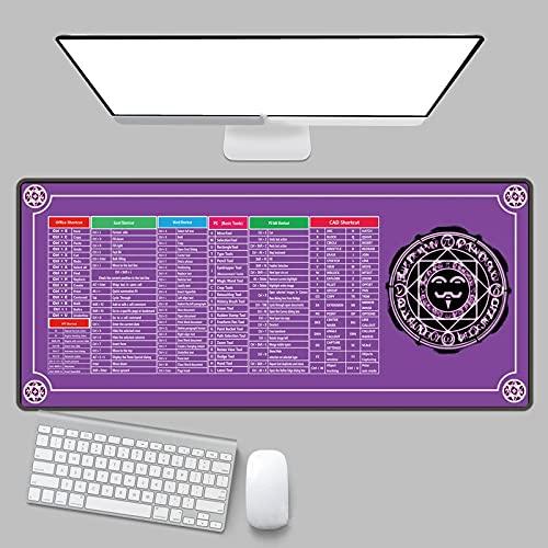 alfombrilla de ratón de cuero 600x300x3mm Alfombrilla de ratón extendida para juegos con bordes cosidos antideslizantes y base de goma antideslizante - Protector de alfombrilla de escritorio - Alfombr