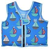 Splash About, Go Splash, Chaleco de natación para niños, Azul (Set Sail), 4 - 6 años
