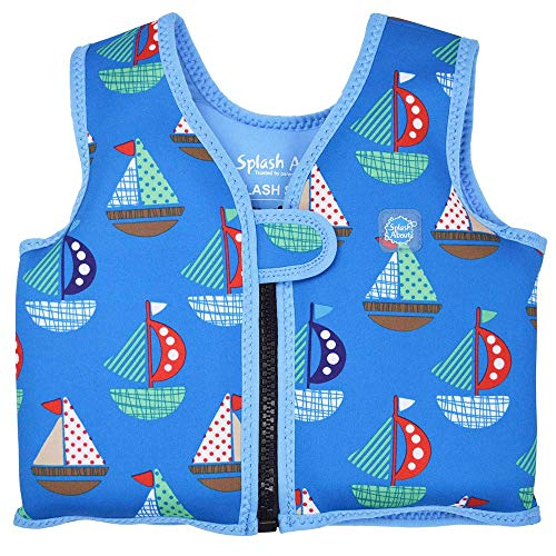 Splash About Go Swim, Gilet salvagente per bambini, Multicolore (Set Sail), 4-6 anni