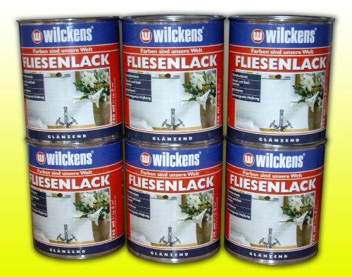 6 DOSEN FLIESENLACK CREMEWEIß Fliesenfarbe 6 x 750 ml