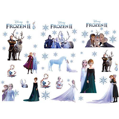 Kibi 3PCS Frozen Wall Stickers Disney for Kids Room Wall Stickers Kids Disney Frozen Wall Art Frozen Wall Mural Frozen Wall Stickers for Bedrooms