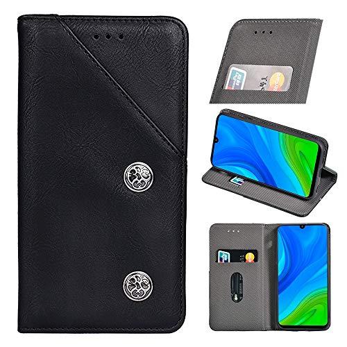 BellaCase Cubot Note 20 Handyhülle Hülle Leder Flip Case [Kartenfach] [Standfunktion] [Magnetschnalle] Wallet Cover für Cubot Note 20 Smartphone(Schwarz)