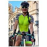 Combinaison de triathlon pour femme Vêtements à manches courtes Combinaisons de cyclisme Barboteuses Kits de combinaison (Color : 9, Size : Medium)