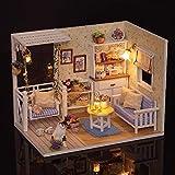 Weehey DIY Miniatur Puppenhaus Kit Realistische Mini 3D Holzhaus Zimmer Handmade Spielzeug mit...