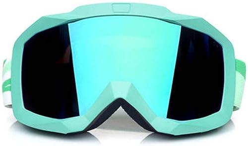 BFQY FH Lunettes De Ski, Double Couche Adulte Anti-Brouillard pour Hommes Et Femmes, Grand Champ De Vision équipeHommest De Lunettes De Ski, Lunettes portables
