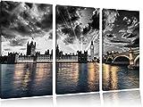 wunderschöne Westminster Abbey mit Big Ben schwarz/weiß