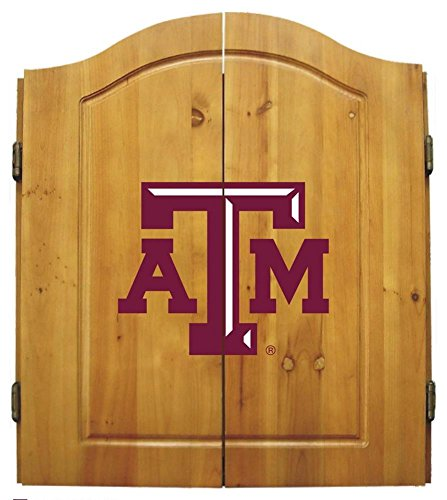 Imperial Officially Licensed NCAA Merchandise: Dart Cabinet Set with Steel Tip Bristle Dartboard, Texas A&M Aggies