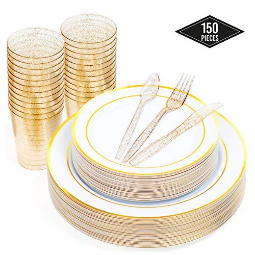 Tenedores Plastico Dorado Marca Matana