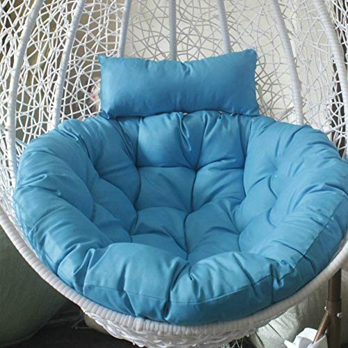 BANNAB Swing chair cushion, Round Fluffy Cotton Wicker Hanging egg chair cushions Pad Patio Garden-sky blue 105x105cm(41x41inch)