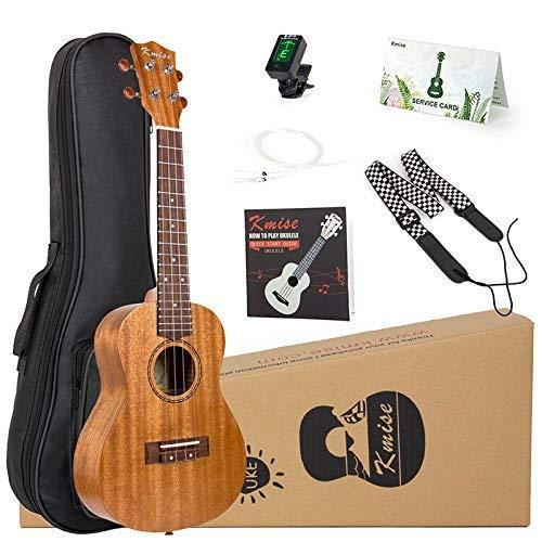 Kmise Concert Ukulele Kit Vintage Uke 23 Inch Mahogany Wood for Beginner With Starter Pack (Gig Bag Tuner Strap String Instruction Booklet)