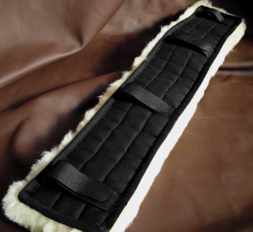 Echt Lammfell Bauchgurtschoner Gurtschoner Gurtunterlage 50 cm lang für Sattelgurt bis 10 cm Breite