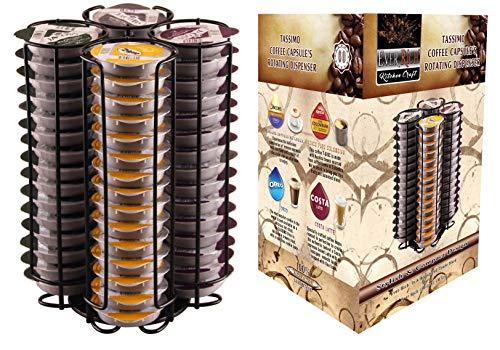 Ever Rich ® Tassimo T-Disc Kapselhalter für Tassimo Kaffeekapseln (60 BLACK)