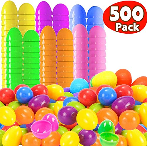 Buy Bargain 500 Count Plastic Easter Eggs Bulk, 2 1/2 Inch 6 Color Bright Empty Shells-Best Value 50...