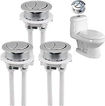 QUUPY 3 STKS Toilet Spoelknop Schakelaar Dual Drukknop Toilet Water Tank Drukknop Staaf voor Toilet Closestool Cistern Ver...