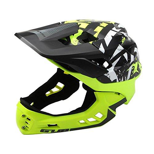 Seasaleshop Fahrradhelm Fullface Helm Fahrrad Downhill Helm Kinderhelm für Jungen Mädchen 54-58cm mit 21 Belütungsöffnungen Stoßfest Anti-Schweiß by