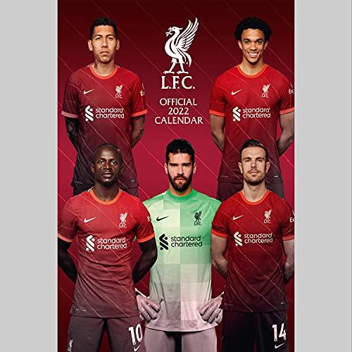 Official Liverpool Football Club 2022 Calendar – Month To View A3 Wall Calendar (The Official Liverpool FC A3 Calendar 2022)