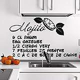 mlpnko Etiqueta engomada del Plato Cocina Apliques de Vinilo Moda Cocina decoración de la Pared a Prueba de Agua 102x153cm