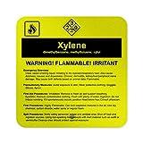 Xileno Dimetilbenceno Metiltolueno Xylol Hazard Cartel de Metal de Metal de 30 x 30 cm