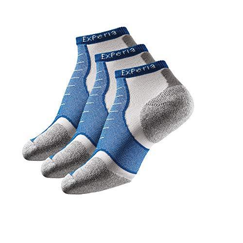 Thorlos Experia Unisex-Erwachsene Multi-Sport Thin Padded Low Cut 3 Pair Pack Socks Laufshorts, Royal (3 Paar), Medium