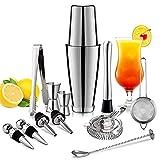 13 unids/set Coctel de acero inoxidable Shaker Hielo Tong Mixer Drink Boston Bartender Barrowser Kit Bares Set Professional Bartender Tool (Color : A)