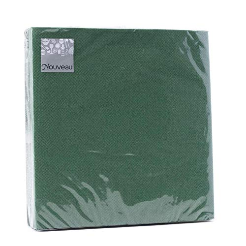 Tovaglioli di carta monouso, Verde Scuro, 16 pezzi 3 strati - 33 x 33 cm