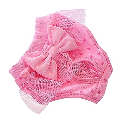 Pañales Perro Hembra Bragas Perras Celo Perro pañales Pañales para Perros Hembra Perro Regalo Mujer Lavable Perro pañales Medium,Pink