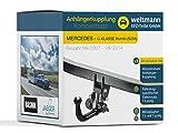 Weltmann 7D050002 Mercedes Benz C-KLASSE Kombi (S204) - Abnehmbare Anhängerkupplung inkl. fahrzeugspz. 13-poligen Elektrosatz