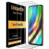 [3 pièces] UniqueMe Verre Trempé Protection écran pour Motorola Moto G9 Plus, [Sensible au...