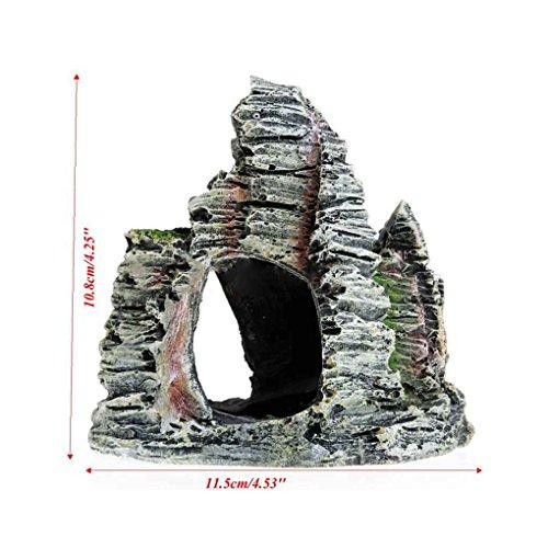 Vkospy Mountain View Acuario de rocalla Cueva escondite Fish Tank árbol decoración del Ornamento
