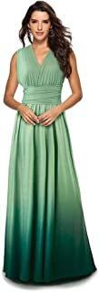 Women Evening Long Maxi Gradient Ombre Dress Convertible Transformer Wedding Party Cocktail Homecoming Gown
