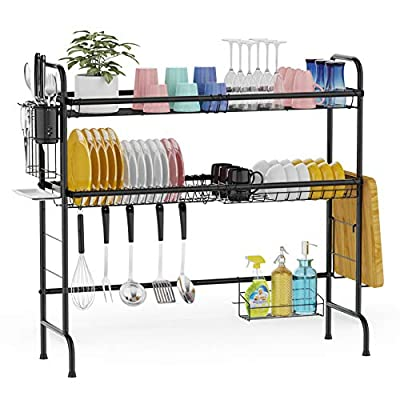 Over The Sink Dish Drying Rack, GSlife 2 Tier S...