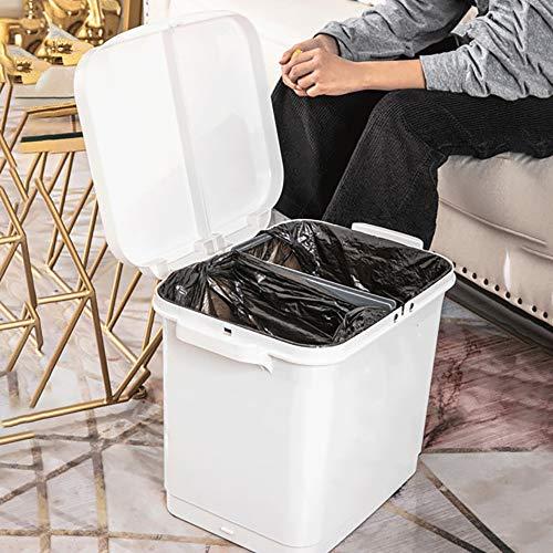 30L Grote Capaciteit Clamshell Design Vuilnisbak VOOR Kantoor Keuken Slaapkamer/Slaapzaal Etc Met PP Materiaal Afval Utility Plastic Bakken Recycling Pedaalemmer