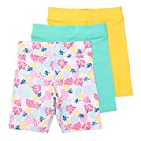 Lucky & Me | Kylie Girls Organic Cotton Bike Shorts | Tagless with Good Coverage (3-Pack) (7-8 Years, Tropicana)